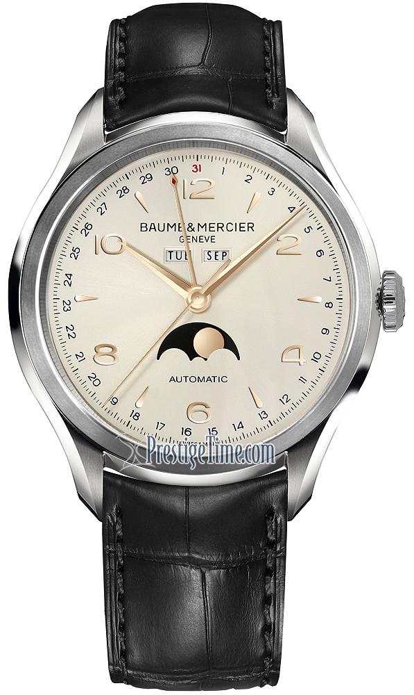 10055 Baume & Mercier Clifton Complete Calendar Moonphase ...