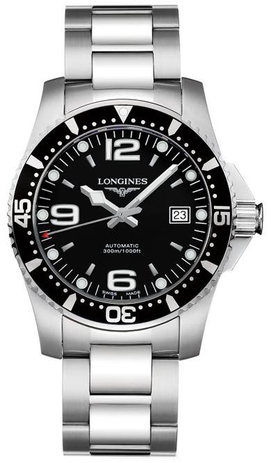 Longines Hydroconquest Automatic >> L3.641.4.56.6 Longines HydroConquest Automatic 39mm Mens Watch