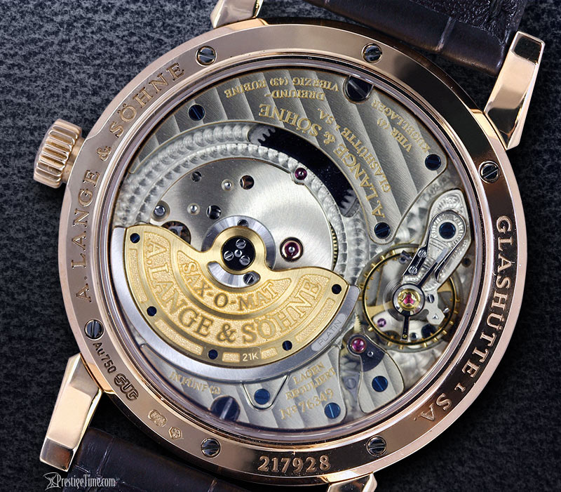 A Lange and Sohne Saxonia Annual Calendar back
