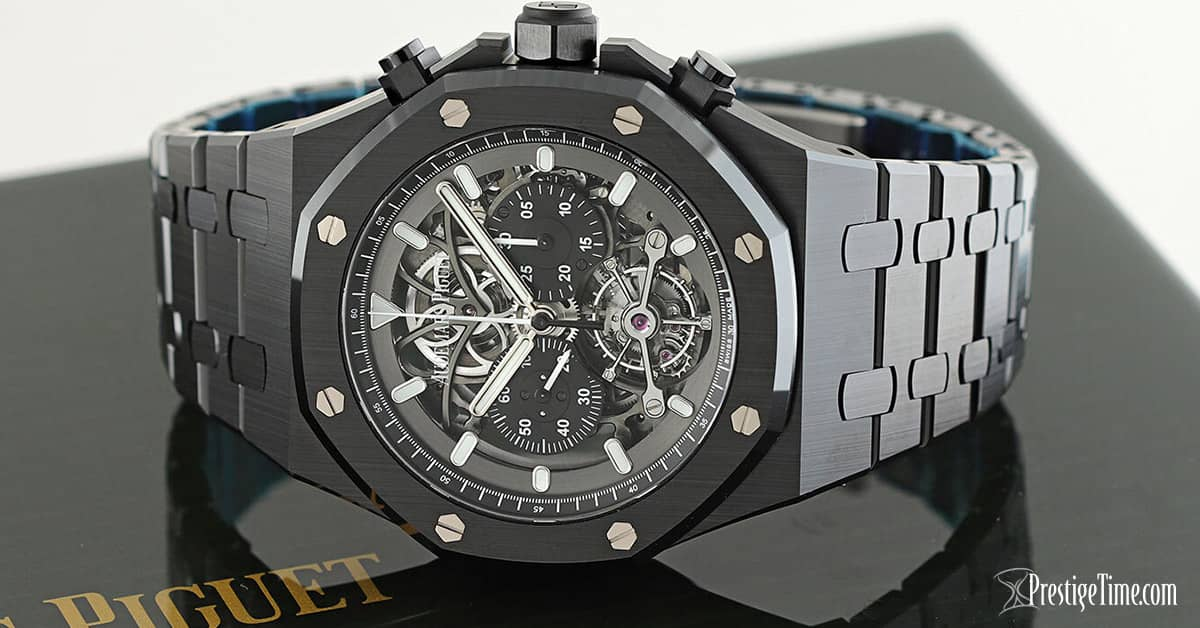 AP Royal Oak Tourbillon Chronograph Openworked Dial