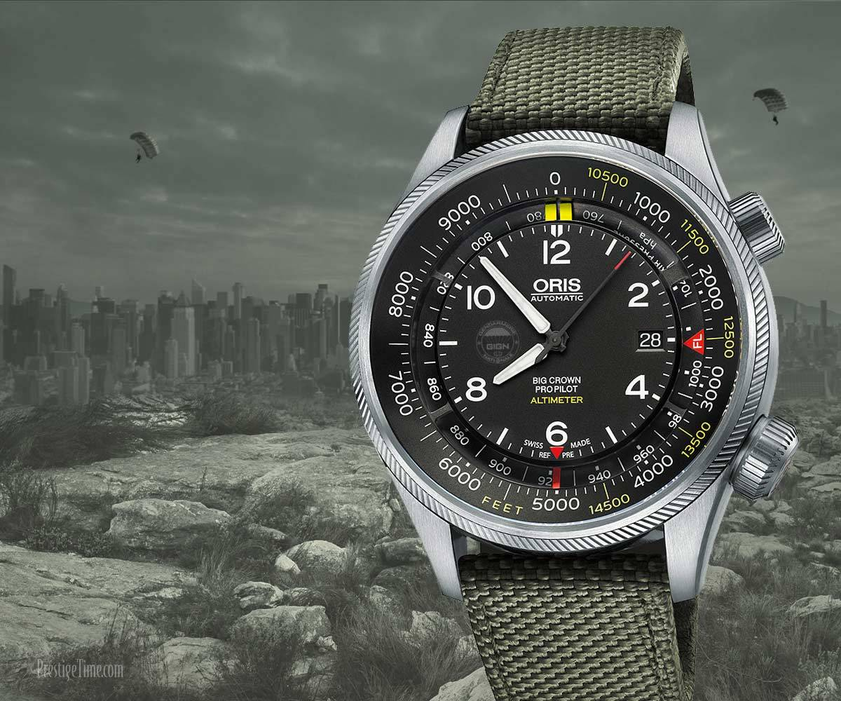 Oris ProPilot mechanical Almitemer Gauge Watch