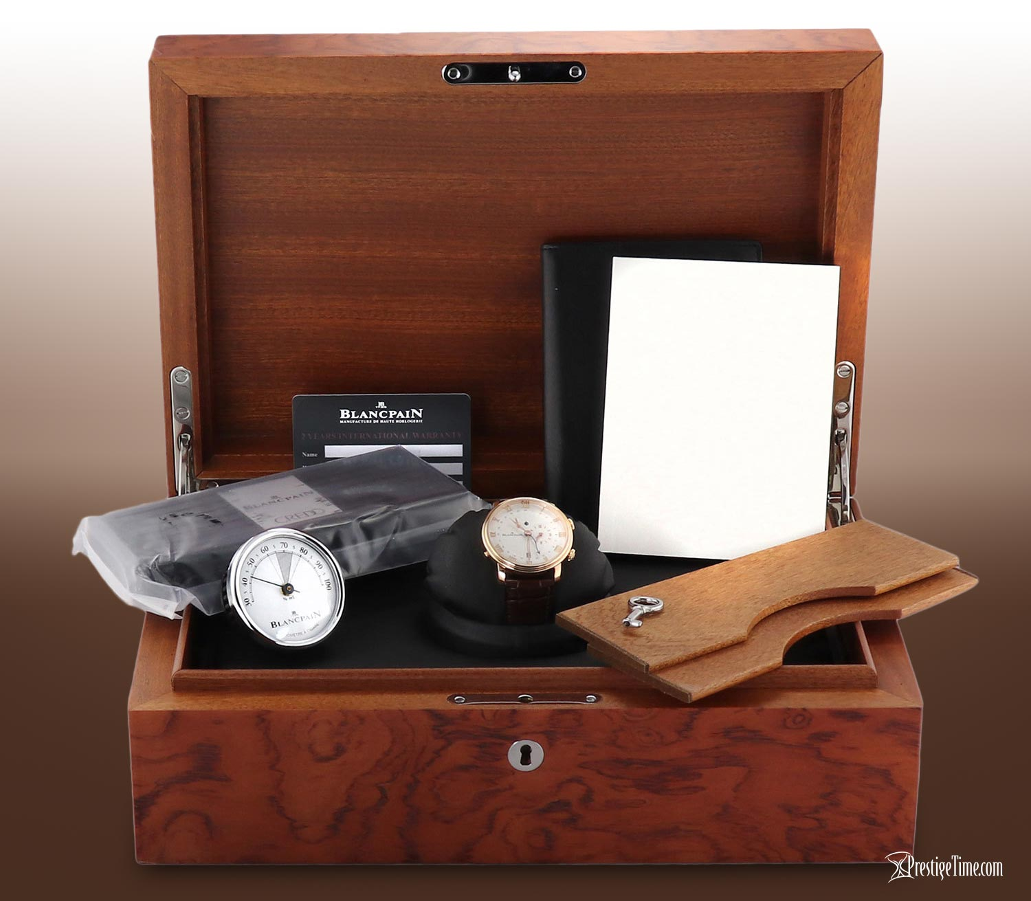 Blancpain Villeret Reveil GMT Review Humidor Box Packaging