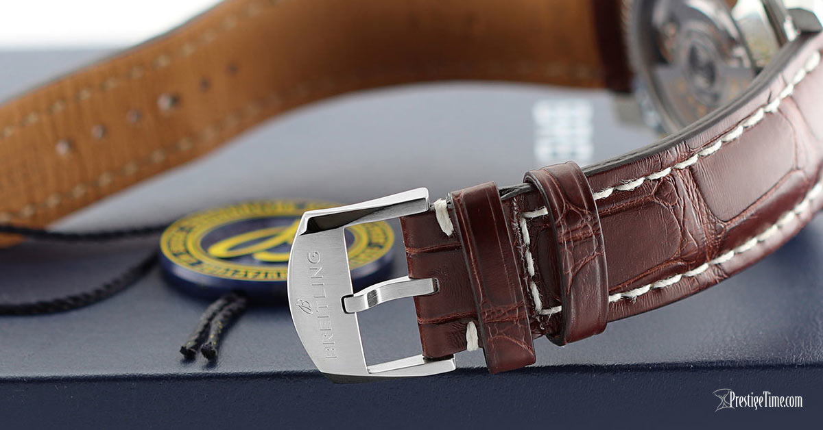 Breitling Aviator 8 B35 Automatic Unitime 43 Leather Strap