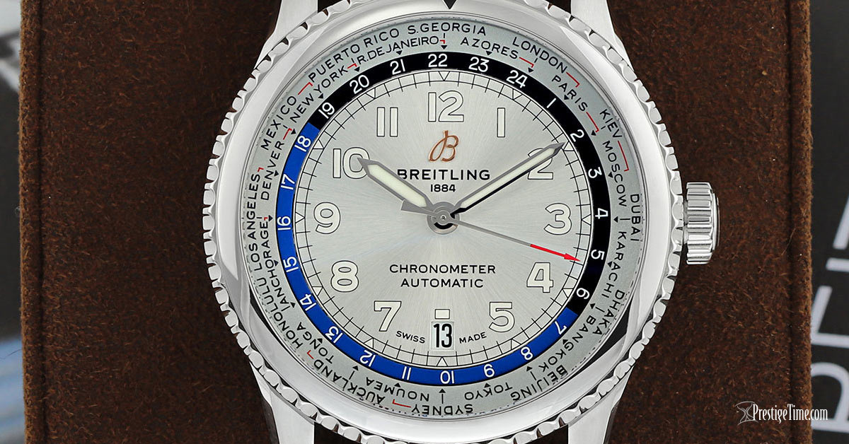 Breitling Aviator 8 B35 Automatic Unitime 43 Review Dial