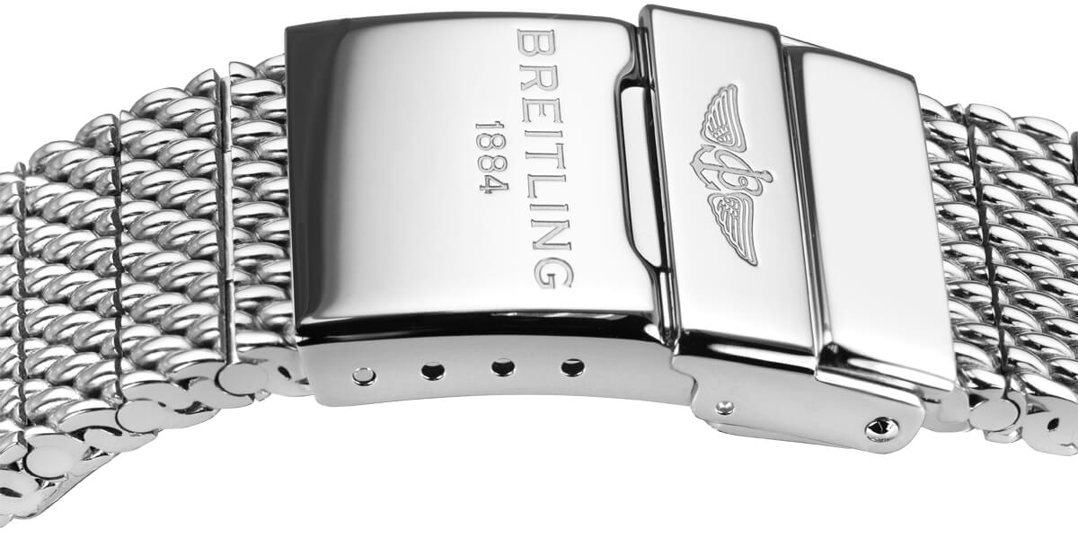 Breitling steel mesh bracelet and buckle 152a