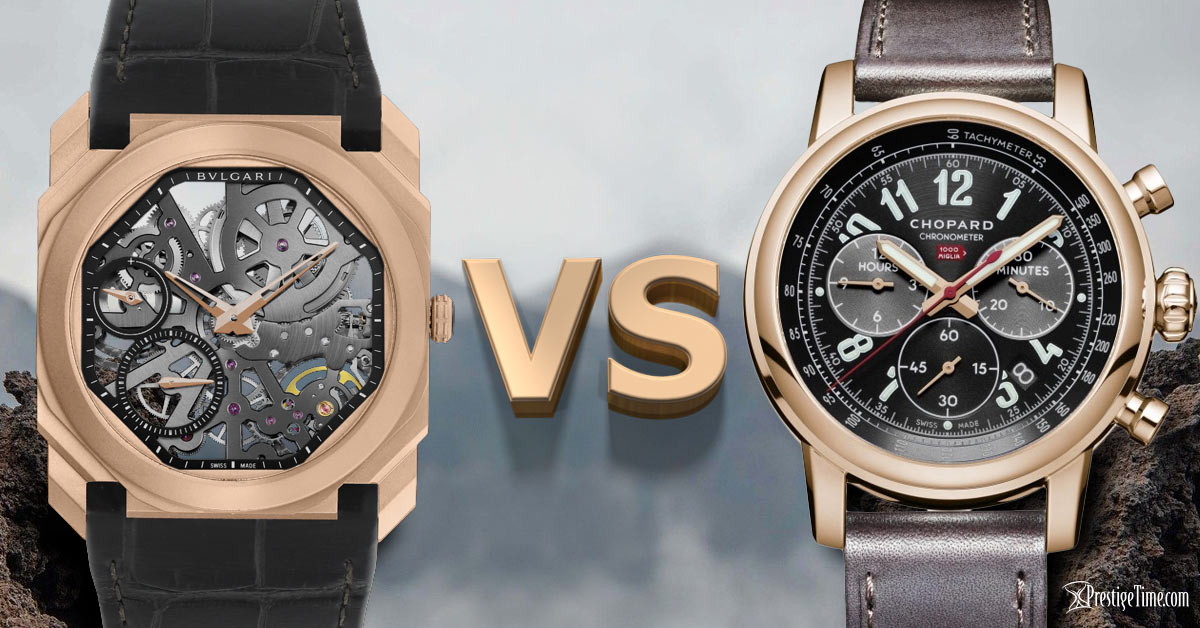 Bvlgari VS Chopard watches