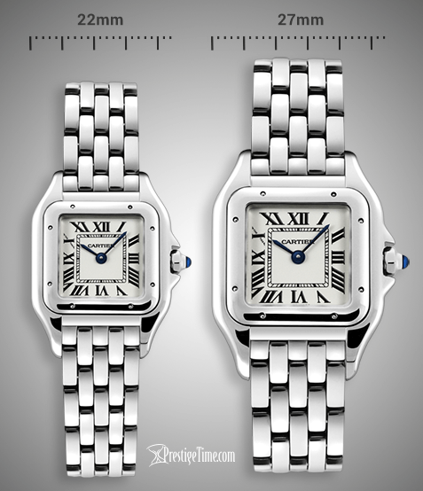 Compare Cartier Panthere de Cartier sizes