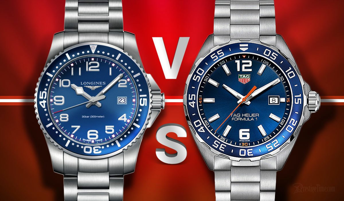 Longines Hydroconquest VS TAG Heuer Formula 1