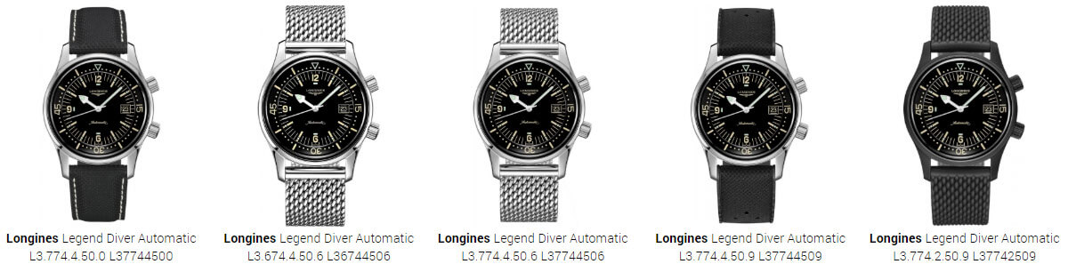 Longines Legend Diver Automatic Models
