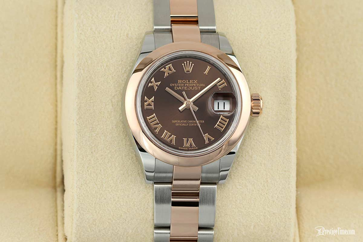 Rolex Datejust 28mm 279161 Chocolate Roman Oyster