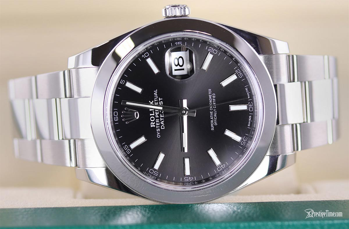 Rolex Datejust 41mm Black Index Oyster