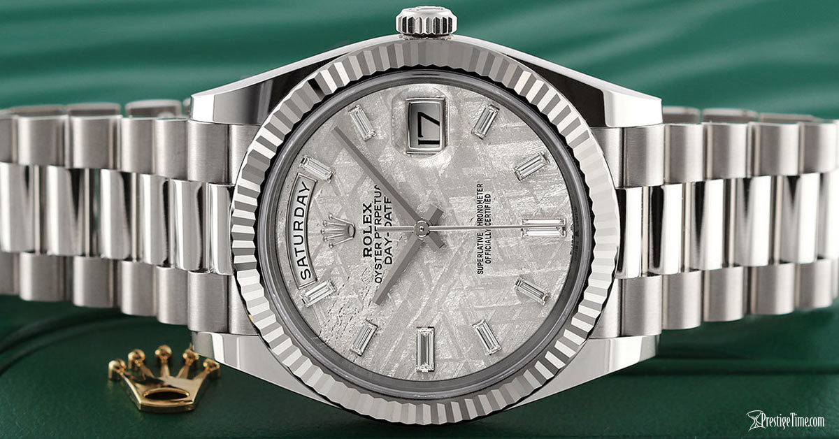 Rolex Day-Date 40mm White Gold Meteorite Review