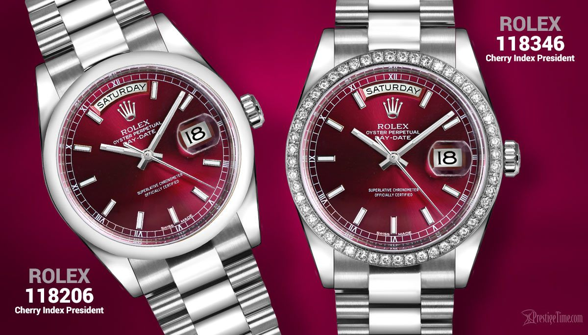 Rolex watches with Red Dials