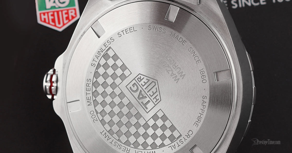 Tag Heuer Formula 1 Automatic 43mm Review Case Back