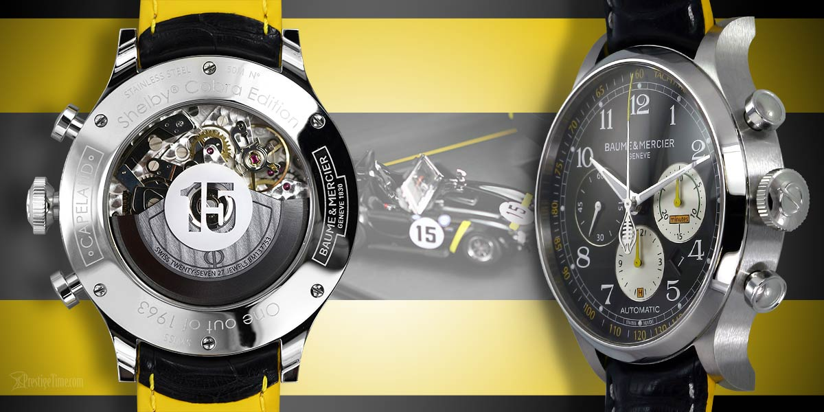 baume et mercier limited edition shelby cobra 1963 caseback