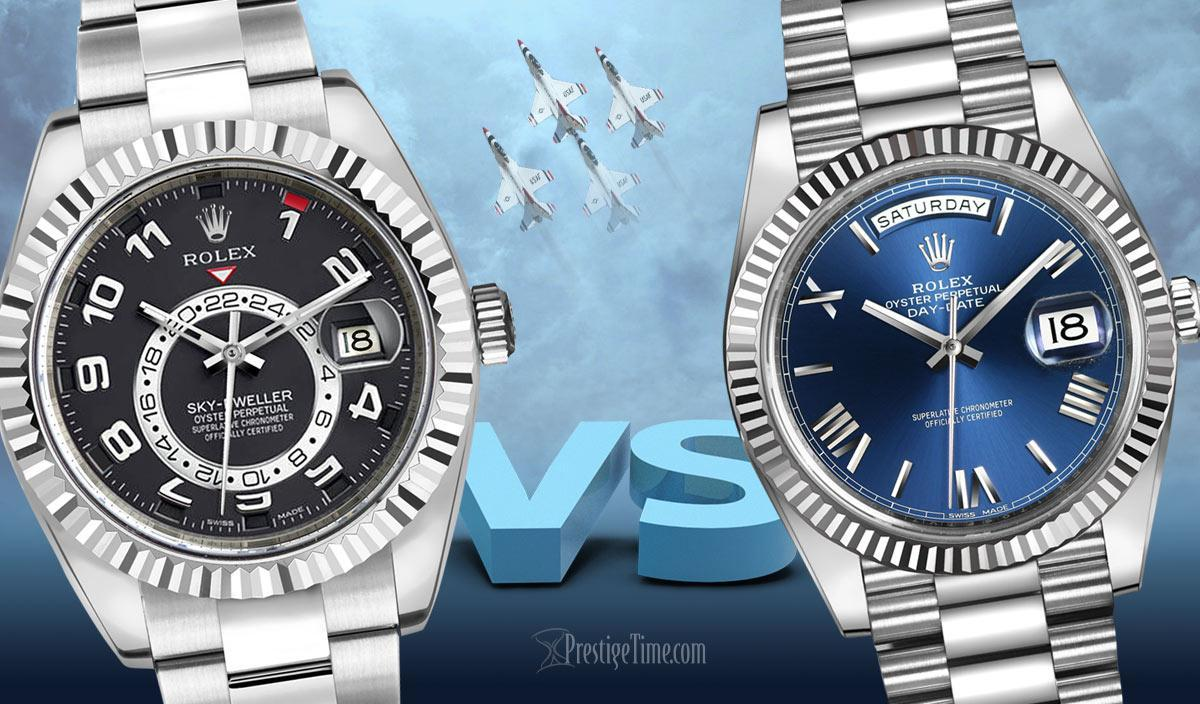 COMPARISON: Rolex Sky-Dweller VS Rolex Day-Date