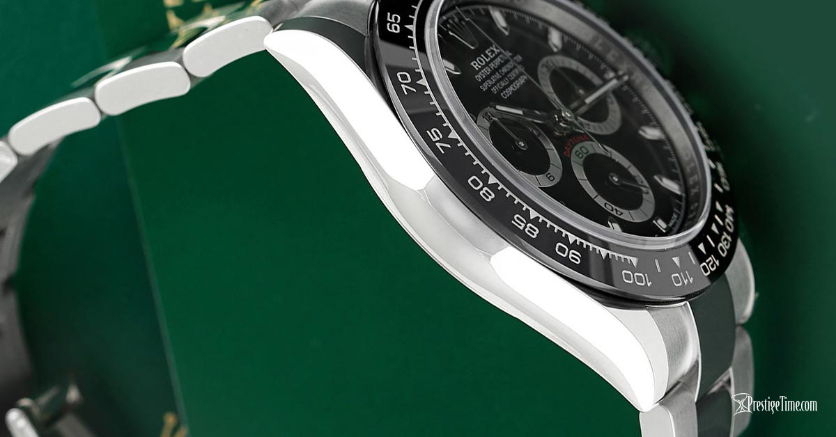 rolex daytona 116500ln black case thickness