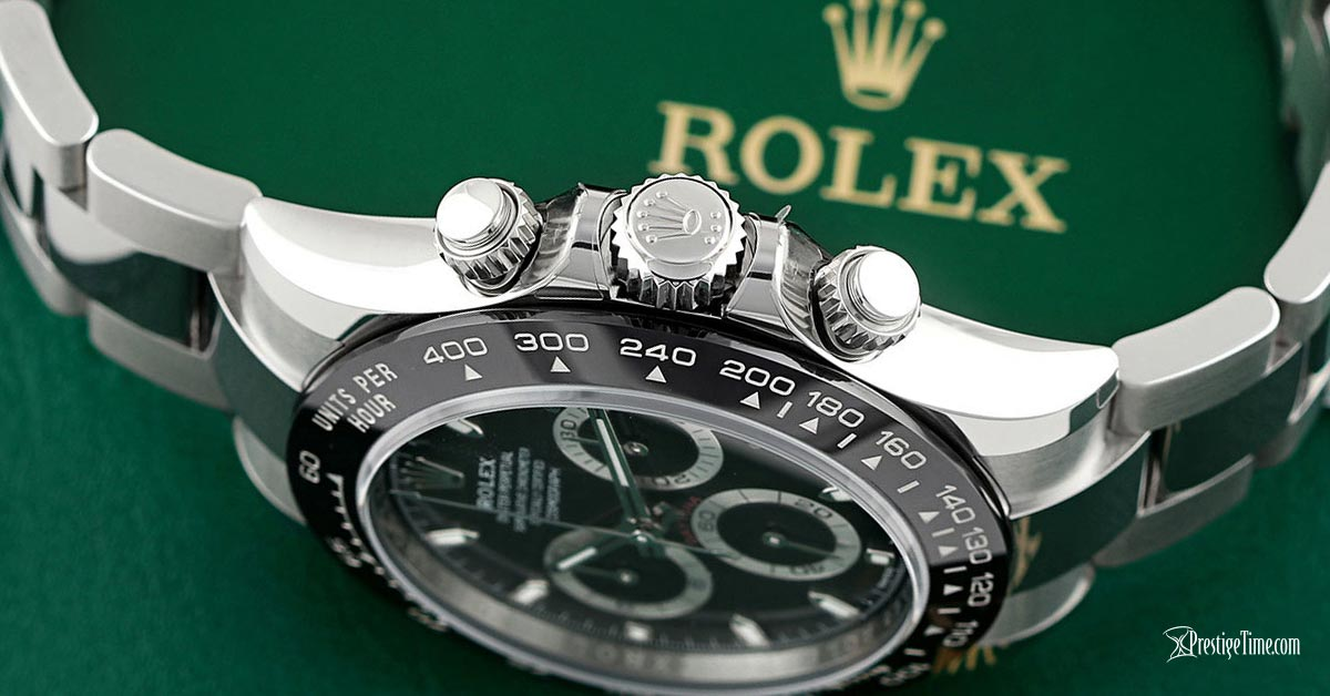 rolex daytona 116500ln black pushers and crown