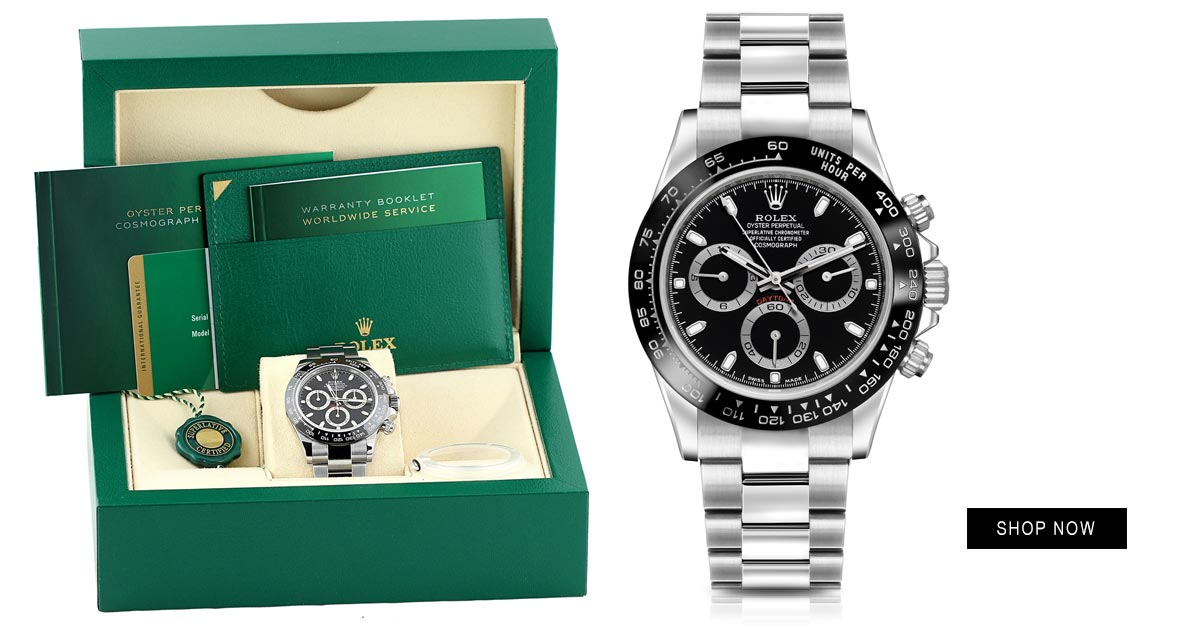 rolex daytona 116500ln black shop now