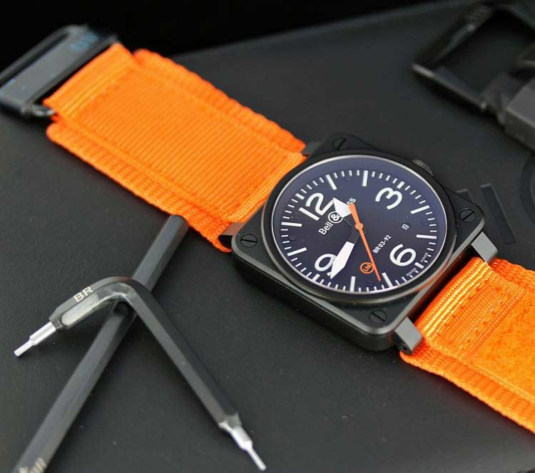 Bell and Ross BR03 92 Carbon Orange