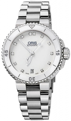 Oris Aquis Date Diamonds 36mm 01 733 7652 4191-07 8 18 01P