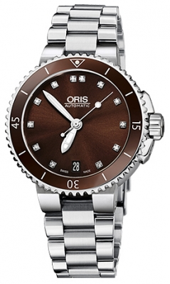 Oris Aquis Date Diamonds 36mm 01 733 7652 4192-07 8 18 01P