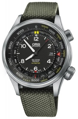 Oris Big Crown ProPilot Altimeter with Feet Scale 47mm 01 733 7705 4134-07 5 23 14FC