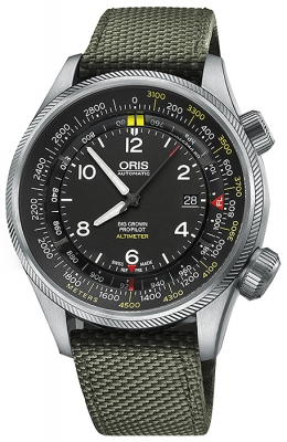 Oris Big Crown ProPilot Altimeter with Meter Scale 47mm 01 733 7705 4164-07 5 23 14FC
