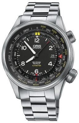 Oris Big Crown ProPilot Altimeter with Meter Scale 47mm 01 733 7705 4164-07 8 23 19