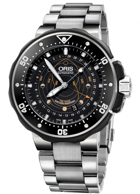 Oris ProDiver Pointer Moon 49mm 01 761 7682 7154-Set Northern Hemisphere
