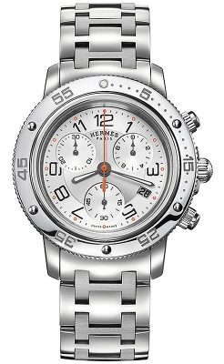 Hermes Clipper Chrono Quartz GM 36mm 035367WW00