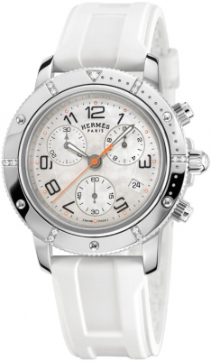 Hermes Clipper Chrono Quartz GM 36mm 035371WW00