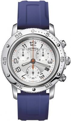 Hermes Clipper Chrono Quartz GM 36mm 039387WW00