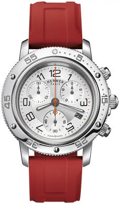 Hermes Clipper Chrono Quartz GM 36mm 039388WW00