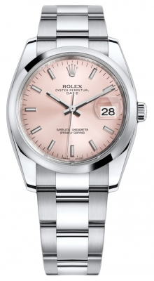 Rolex Date 34mm 115200 Pink Index Oyster