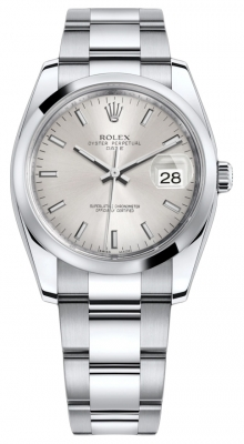 Rolex Date 34mm 115200 Silver Index Oyster