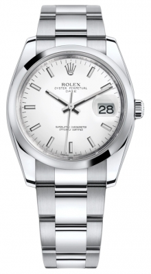 Rolex Date 34mm 115200 White Index Oyster