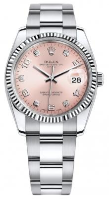 Rolex Date 34mm 115234 Pink Diamond Oyster