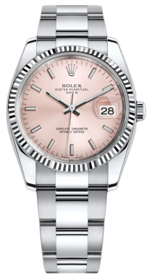 Rolex Date 34mm 115234 Pink Index Oyster