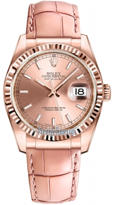 Rolex Datejust 36mm Everose Gold 116135 Pink Index