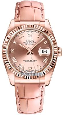 Rolex Datejust 36mm Everose Gold 116135 Pink Roman