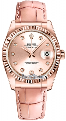 Rolex Datejust 36mm Everose Gold 116135 Pink Diamond