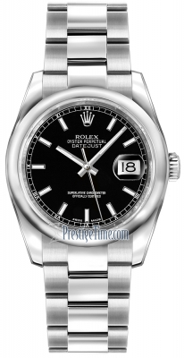 Rolex Datejust 36mm Stainless Steel 116200 Black Index Oyster