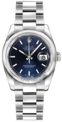 Rolex Datejust 36mm Stainless Steel 116200 Blue Index Oyster