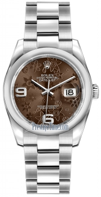 Rolex Datejust 36mm Stainless Steel 116200 Bronze Floral Oyster