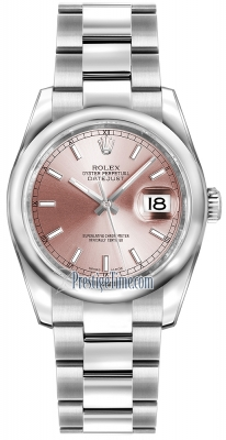Rolex Datejust 36mm Stainless Steel 116200 Pink Index Oyster