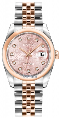 Rolex Datejust 36mm Stainless Steel and Rose Gold 116201 Jubilee Pink Diamond Jubilee
