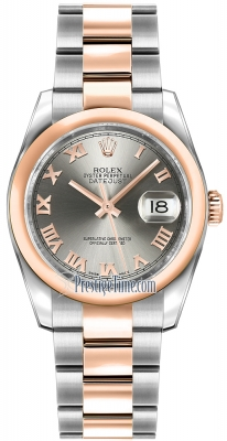 Rolex Datejust 36mm Stainless Steel and Rose Gold 116201 Steel Roman Oyster