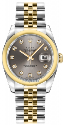 Rolex Datejust 36mm Stainless Steel and Yellow Gold 116203 Steel Diamond Jubilee