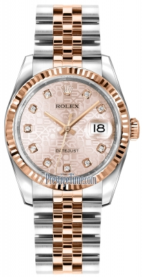 Rolex Datejust 36mm Stainless Steel and Rose Gold 116231 Jubilee Pink Diamond Jubilee